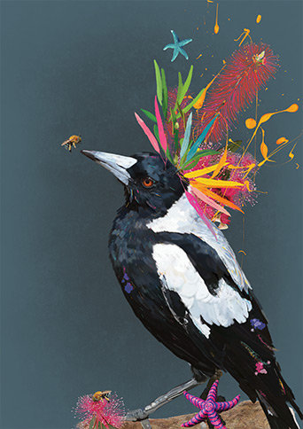 Billy - Magpie Print