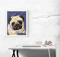 Paint me like one of your French Girls - Pug Framed