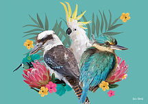 ArtTonic_Cockatoo_Kookaburra_Kingfisher_