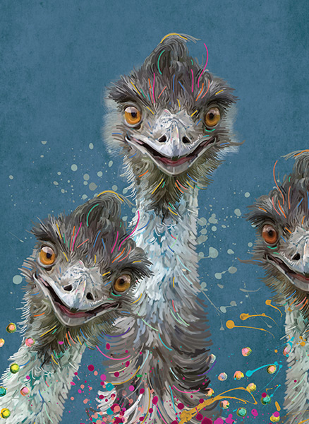 Aussie Icon - Emu Family