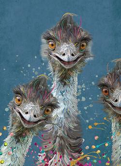 Aussie Icon - Emu Family