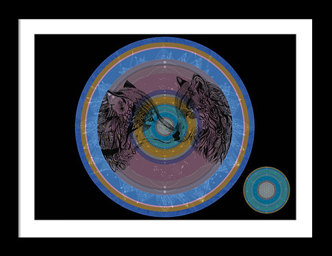 Wolf Essence Mandala Print