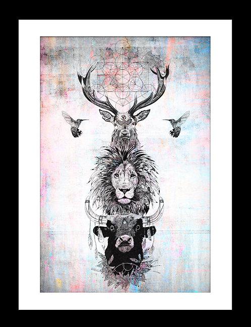 Bull Lion Stag Totem