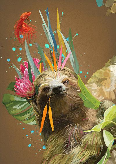 George - Sloth Print