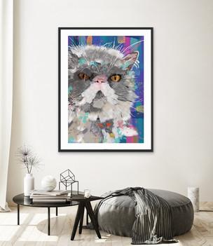 Rag Doll Cat Pet Portrait