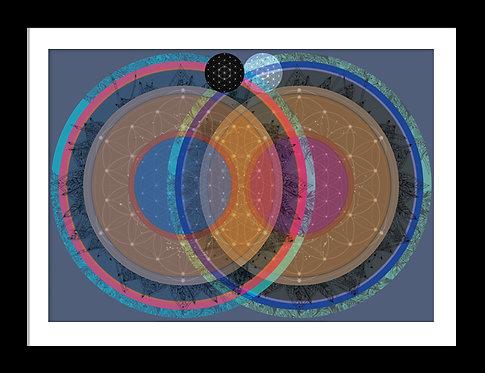 Vesica Pisces Mandala Print