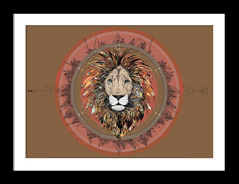 Lion Essence Mandala Print