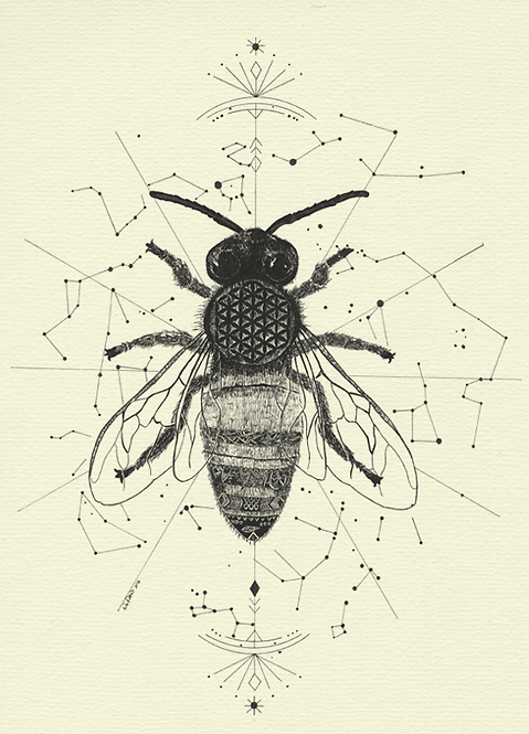 Bee - Flower of Life