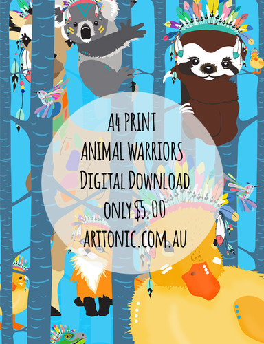 Digital Download - Animal Warriors