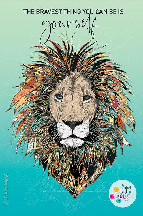Brave - Lion Print