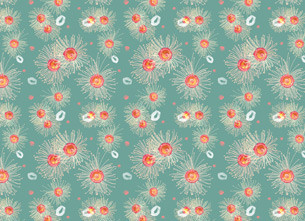 Native Flower Pattern Design