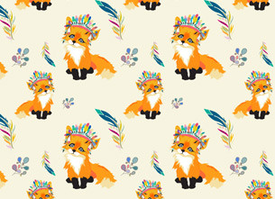 Frankie Fox Pattern Design