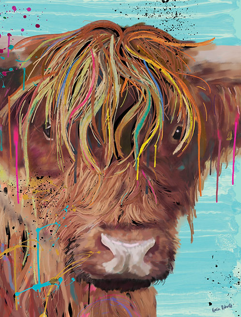 Molly - Highland Cow Portrait