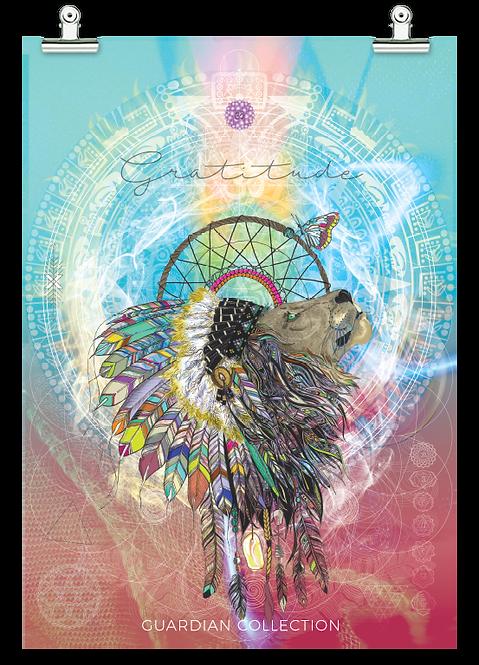 Cosmic / Tribal Lion - Gratitude