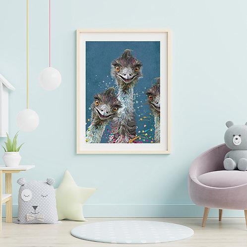 Australian Icon - Emu Family