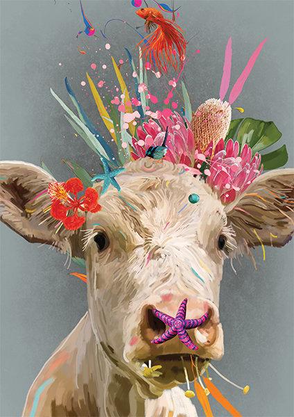 Mavis - Cow Print