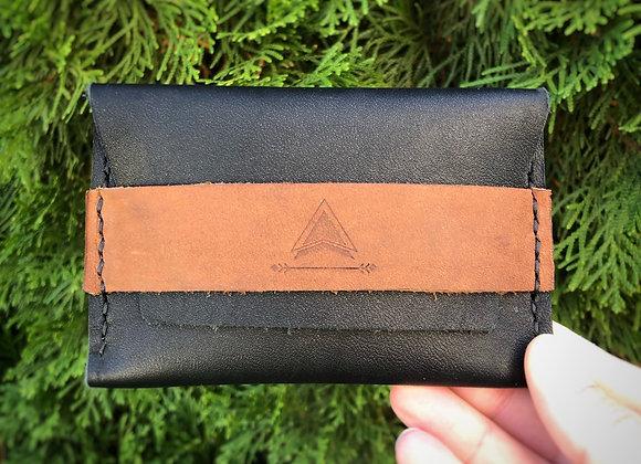 Mountain Minimalist Wallet in Black