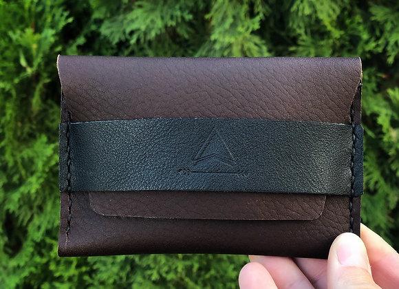 Mountain Minimalist Wallet in Burgundy