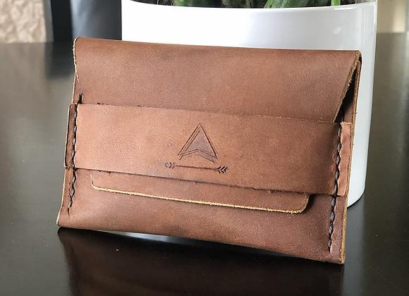 Mountain Minimalist Wallet in Sadde Brown