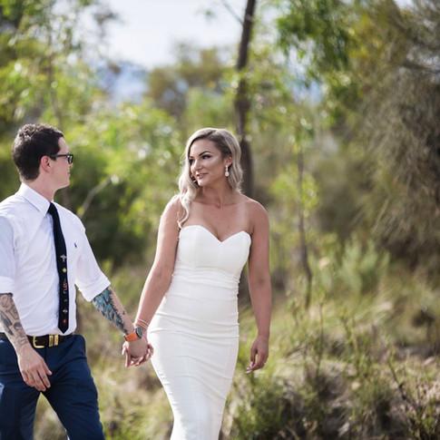 Candid wedding photoshot
