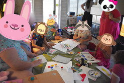 Finger-painting in littlespace.