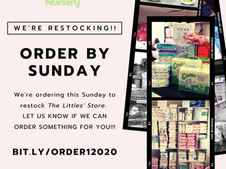 The Littles' Store is Ordering!!