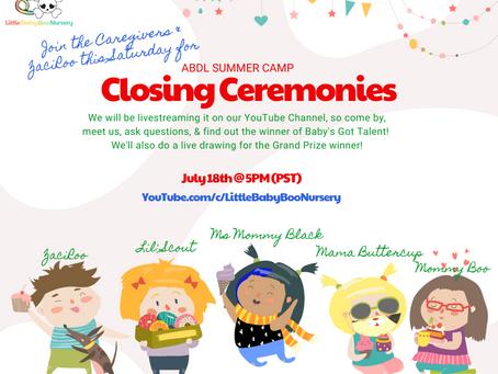 ABDL Summer Camp's Closing Ceremonies!