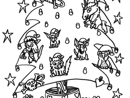 Merry Christmas ABDL Coloring Page
