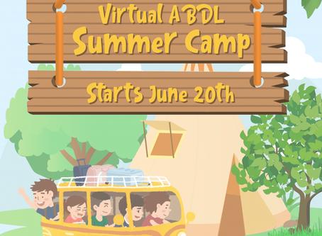 Virtual ABDL Summer Camp Starts June 20th!