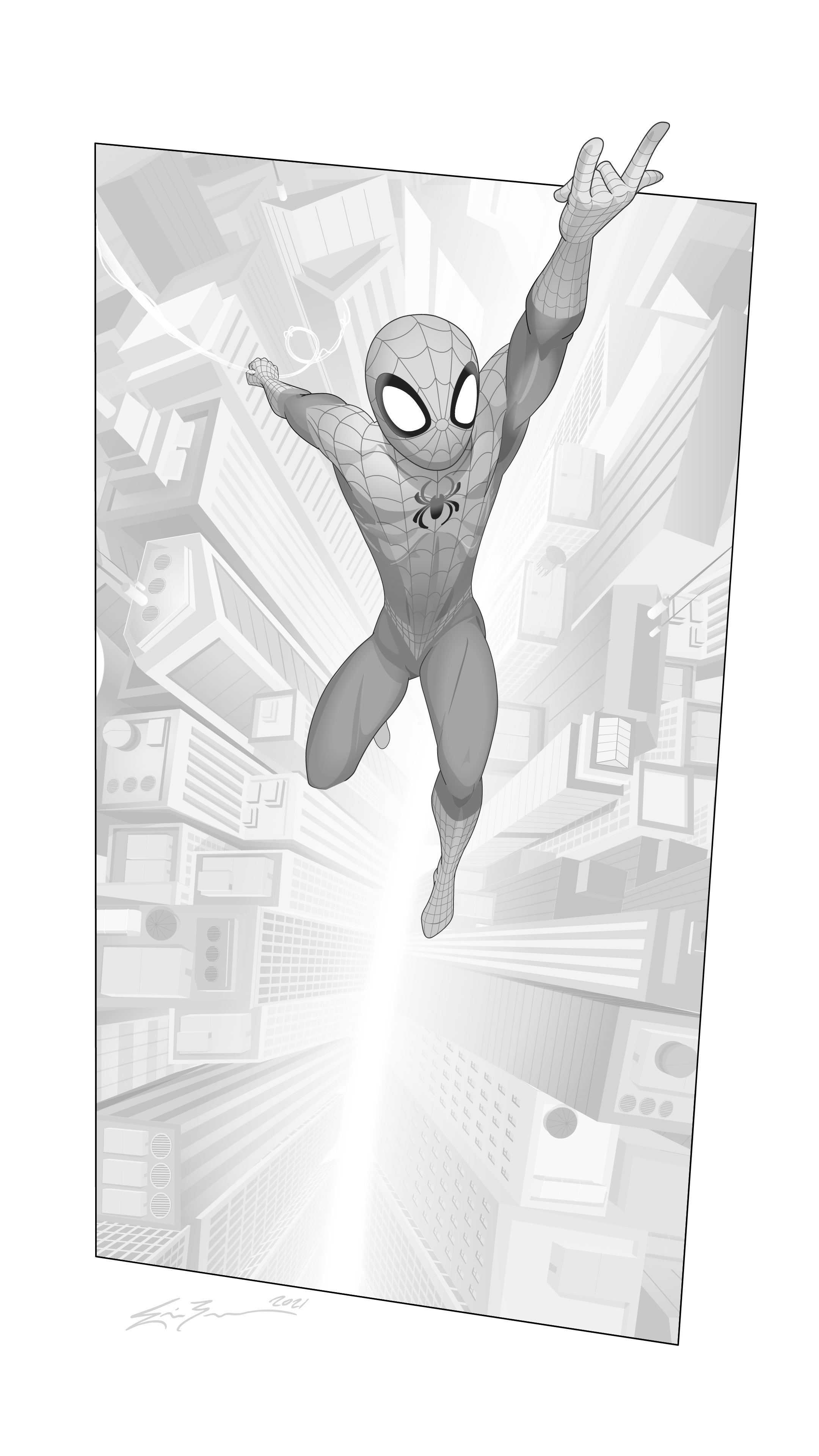 01_Spider-man_2021_Classic_Greyscale