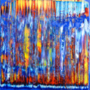 Bleu abstract painting