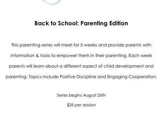 New Parenting Series!