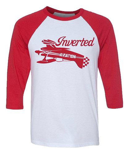 Inverted Aviation Pitts 3/4 Sleeve Baseball T-Shirt Unisex