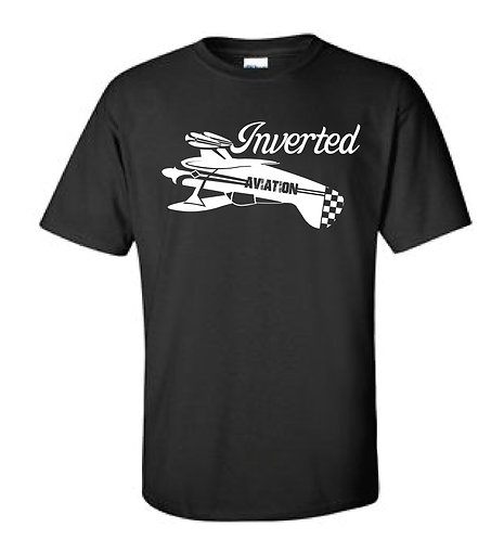Inverted Aviation Pitts Mens Black T-Shirt