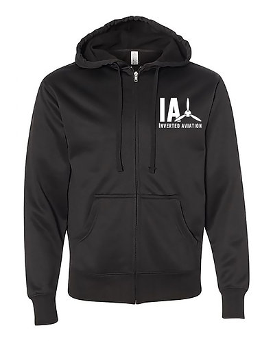 Unisex Poly Tech Zip Hooded Sweatshirt