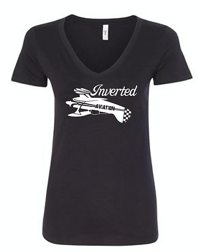 Inverted Aviation Pitts Womens V-Neck