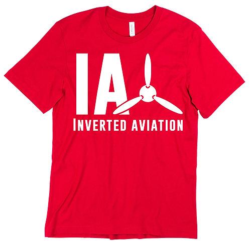 Inverted Aviation Logo Men's Red T Shirt