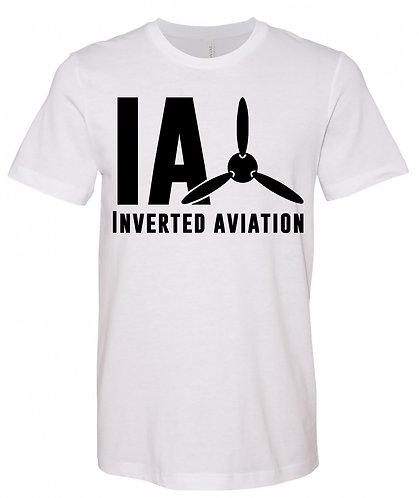 Inverted Aviation Logo Men's White T Shirt