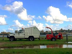 truck chipper tree service