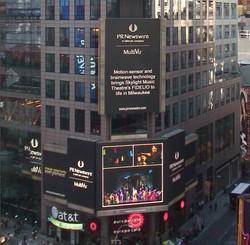 Fidelio on the Times Square Jumbo Tr