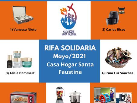 Rifa Solidaria Mayo 2021 - Resultados