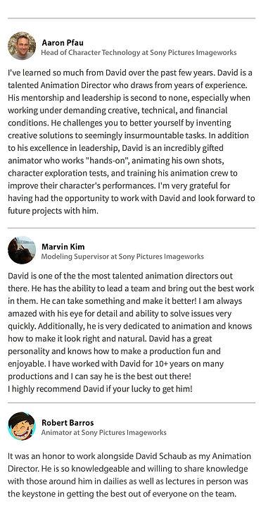 LinkedIn endorsements for David Schaub, Animation Director, Page 2