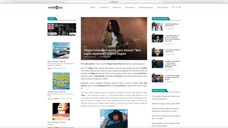 Articolo Inside Music