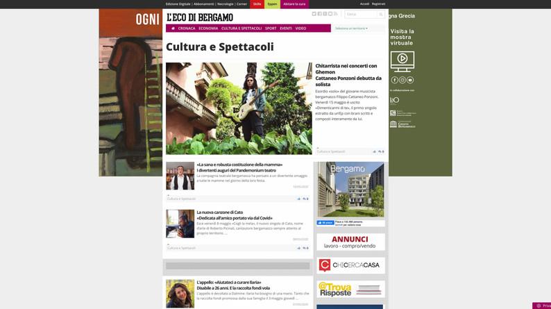 Homepage L'Eco Di Bergamo