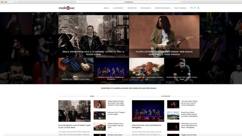Homepage Inside Music