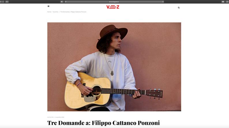 Intervista VEZ Magazine