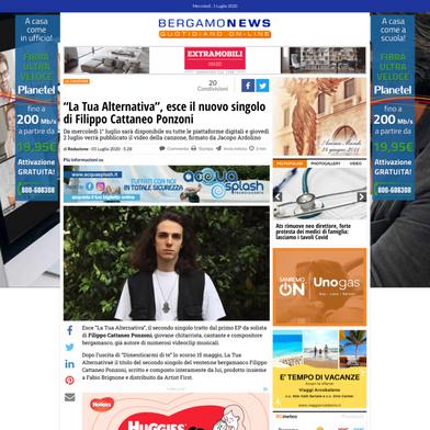 Articolo BERGAMONEWS - La Tua Alternativa