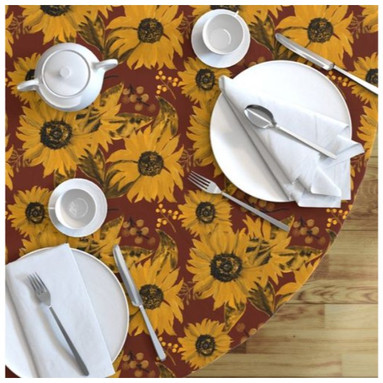 Sunflowers on Red tablecloth.jpg
