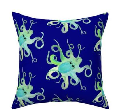 Deep Sea Octopus Watercolor