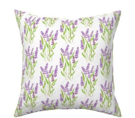 Lavender Watercolor Garden Pillow.jpg
